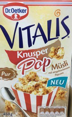 Dr. Oetker Vitalis Popcorn Müsli