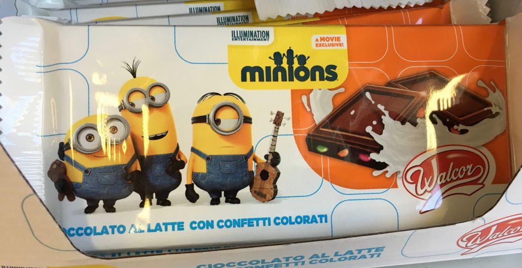 Minions-Motive: Schokolade mit Schokolinsen