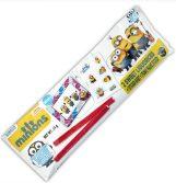Minions auf Kombipaket mit Stickern und Lakritz-Stäbchen.