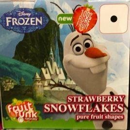 """Kaufrucht, Geschmacksrichtung Erdbeere mit Motiv Olaf von Disney's """"Frozen"""". (gesehen in Holland)"""
