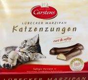 Carstens Katzenzungen Marzipan Zartbitter