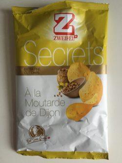 """Was für ein schöner Familien- und Produktname """"Zweifel"""". Diese recht scharfen, etwas ziebelig schmeckenden Dijon Senf-Chips der Reihe """"Secrets"""" kommen aus der Schweiz."""