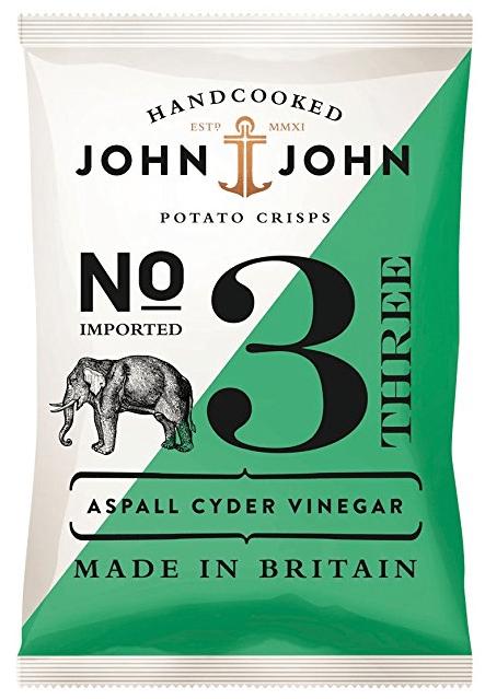 John+John Chips Crisps Aspall Cyder Vinegar