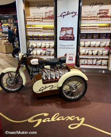 Galaxy Chocolate Duty Free INszenierung