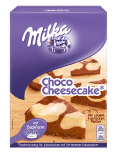 Mondelez ist sehr gut darin, seine Brands über Banden zu spielen, so auch ihre Marke Milka, die für mindestens drei Backmischungen angeboten werden, darunter Choco Cheesecake...