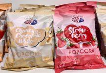 Jimmy's hat auch Erdbeer- und Chunky White Choclate-Popcorn im Angebot.