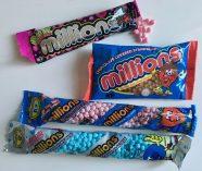Ich gebe es zu: Millions Sweets von der Golden Cusket Group (UK) kannte ich nicht! Es ist eine echte Neuentdeckung von der ISM: Millions sind kleine Kügelchen zum Kauen in vielen Farben und Geschmacksrichtungen. Es gibt sie auch mit Schokolade oder in sauer und sie sind einfach mal was anderes: weder Weingummi, noch Kaubonbons - einfach bunte, witzige Millions.