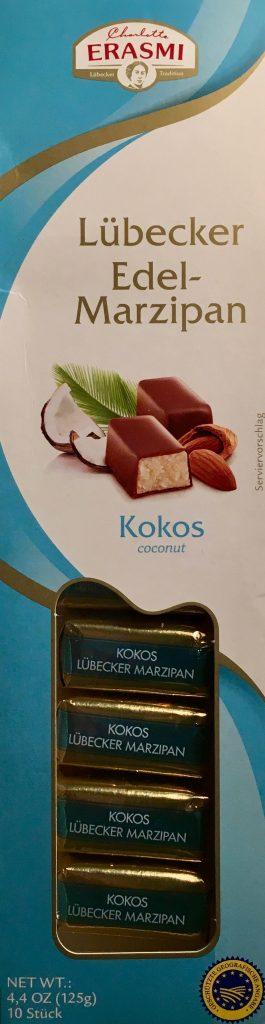 Lübecker Edel-Marzipan mit Kokos von Erasmi