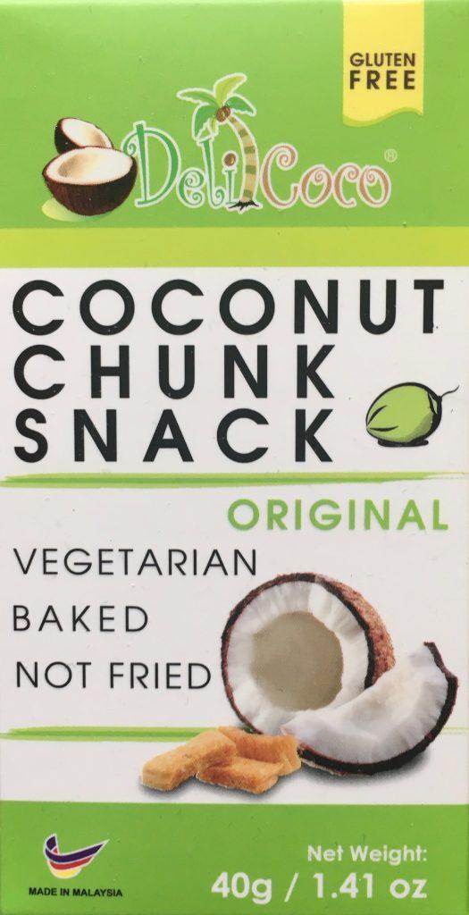 Vegetarischer Coconut Chunk Snack von Deli Coco