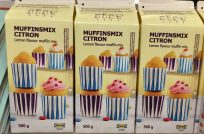 Backmischung für Zitronen-Muffins bei IKEA