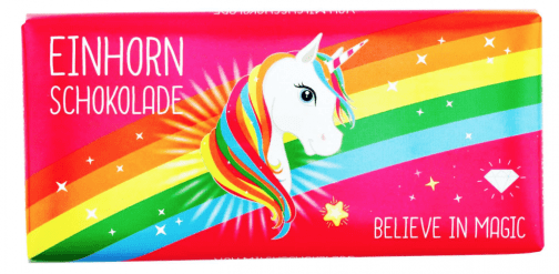 Einhorn Schokolade Believe in Magic Regenbogen