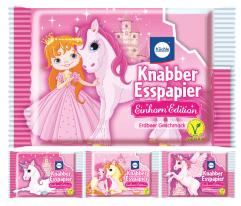 Küchle Knabber Esspapier Einhorn Edition Erdbeer Geschmack