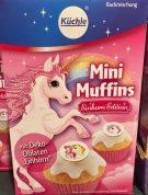 Küchle Backmischung Mini-Muffins mit Deko-Oblate mit Einhorn-Motiv