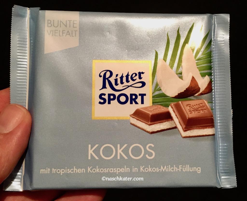 Ritter Sport Kokos mit tropischen Kokosraspeln in Kokos-Milch-Füllung