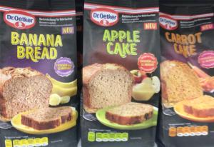 Dr. Oetker Backmischungen Appel Cake Banana Bread Carrot Cake