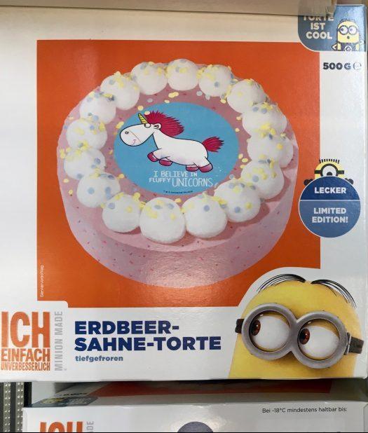 B + F Bakery+Food GmbH Minions Einhorn Torte Universal Illumination Entertainment