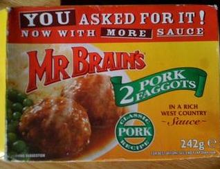 Mr Brains 2 pork Faggots
