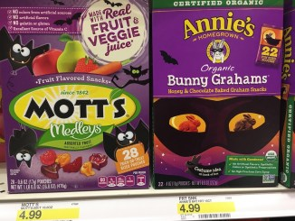 Motts Medleys Fruchtgummi Halloween 467G und Annie's Organic Bunny Grahams Honey+Chocolate Baked graham Snacks 252G