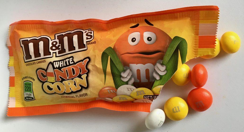 M+Ms White Candy Corn Halloween