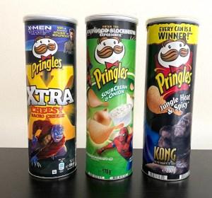 Pringles Film-Editionen X-Men-Spiderman-King Kong