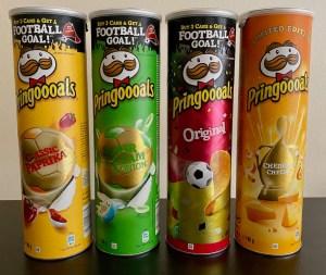 Pringles mit Goldlack-Partien