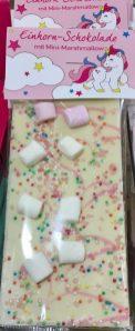 Weiße Einhorn-Schokolade mit Marshmallow