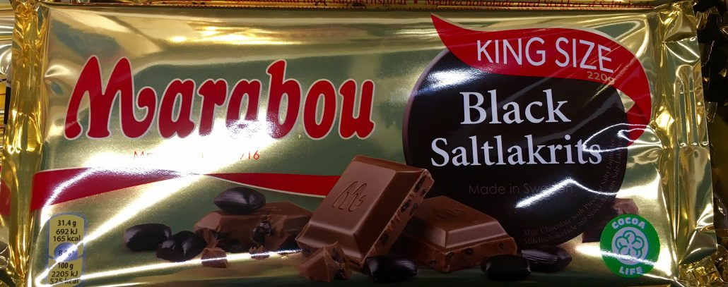 Mondelez Marabou Black Salmiak Lakritz
