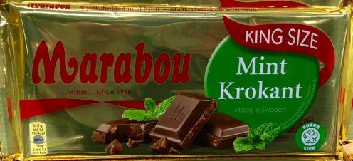 Marabou Schokolade Mint Krokant