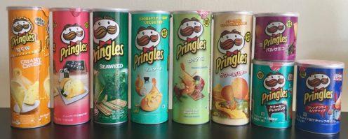 Pringles aus Asien Creamy Cheese-Eff Benedict-Seaweed-Senf-Wasabi-Mayo-Keine Ahnung-Balsamicoessig-Sourcreme-Ketchup