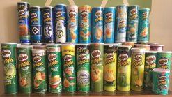 Farbverlauf Pringles Blau- und Grüntöne