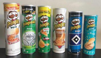 Pringles Pizza 2014-2017 verschiedene Varianten