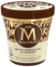 Magnum Eis Pint White Chocolate+Cookies