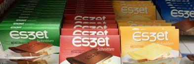 Eszett Brotschokolade verschiedene Sorten