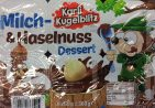 Karl- Kugelblitz Milch-Haselnuss Dessert