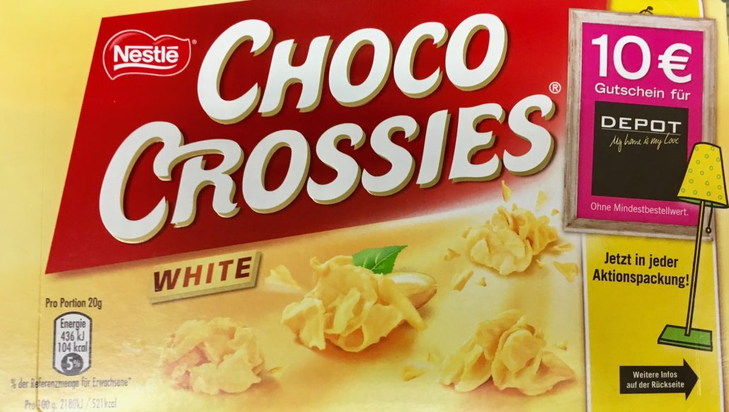 Nestle Choco Crossies White Werbung