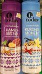 today Cremedusche Kaminabend enthält süße weihnachtliche Aromen wie Pflaume, Apfel und Schokolade, Kuschelmoment dagegen Vanille.