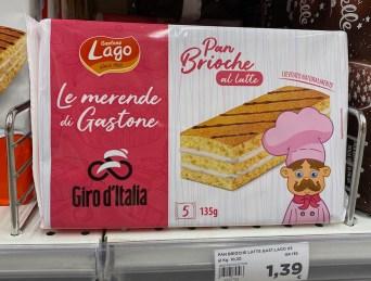 Gastone Lago Pan Brioche al latte 5er 135G Comic-Koch-Motiv