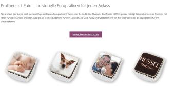 Hussel.de Pralinen personalisieren Hochzeit