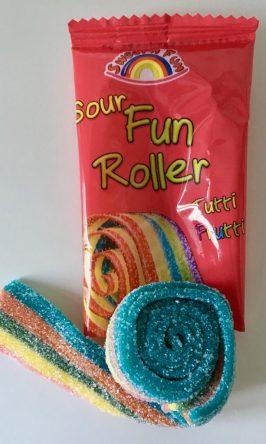 Sweet n Fun Sour Fun Roller Tutti Frutti Weingummi Ungarn