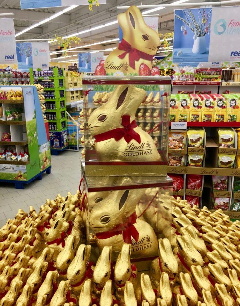 Lindt Riesenosterhase Schokolade Display