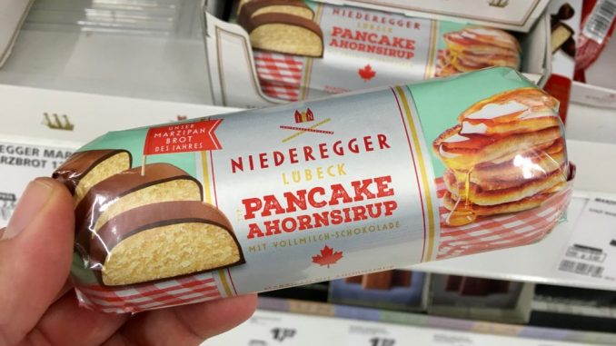 Niederegger Marzipan Pancake Ahornsirup