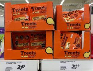 Piasten Treets kartons im Supermarkt