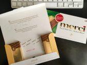 Storck Merci Rabatt-Code in Schokolade Gratis-teste-Aktion