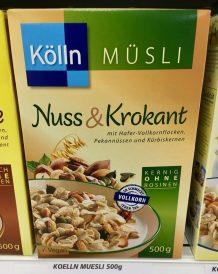 Kölln Müsli Nuss+krokant mit Hafer-Vollkornflocken, Pekannüssen und Kürbiskernen