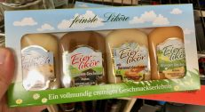 Lidl Eierpunsch-Eierlikör-Schokolade-Eierlikör-Karamel-Eierlikör Orange