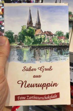 Süßer Gruß aus Neuruppin Feine Zartbitterschokolade Schokoladentafel Souvenir