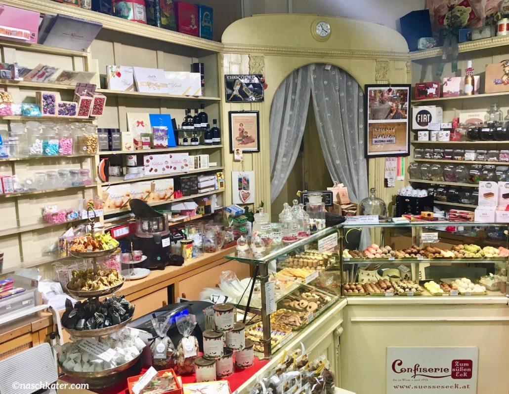 Süßes Eck Wien Österreich Laden Innenraum Tresen