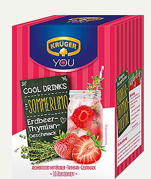 Krüger Cooldrinks-sommerlimo-erdbeer-thymian