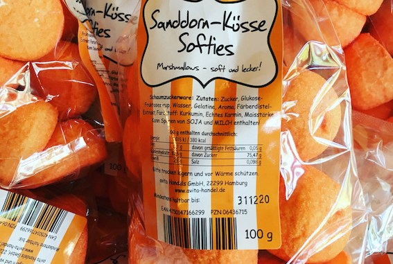 Marshmallows Sanddorn-Küsse Softies