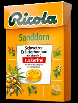 Ricola Schweizer Kräuterbonbon Sanddorn Karton